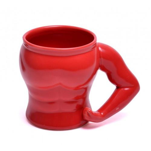 Чаша с мускулесто мъжко тяло - подарък за жена