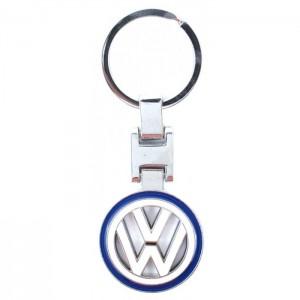 Автомобилен метален ключодържател - кръгла емблема на VW