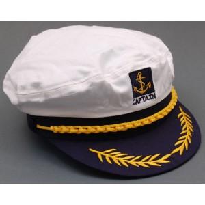 Капитанска шапка  с козирка и бродерия