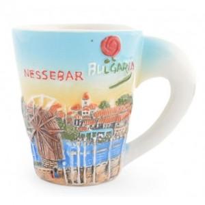 Сувенирна чаша - със забележителности от Несебър