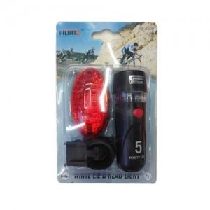 Комплект за колело - фенер с 5 диода и стоп с 5 диода
