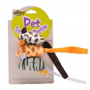 Занимателна играчка за котка - шарена мишка