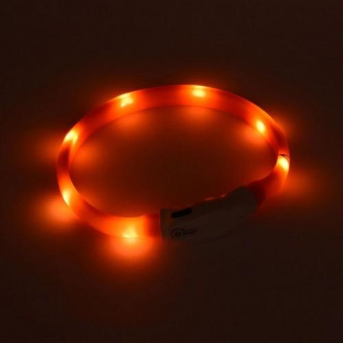Малък силиконов нашийник с LED лампи за кучета и котки