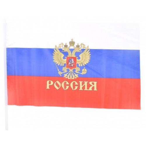 Национално Знаме на Русия с герб  40/60 см.
