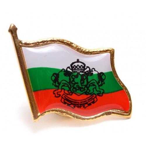 Значка трикольор с гербът на България