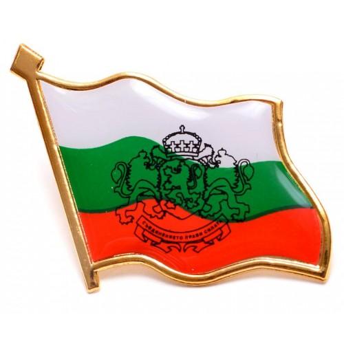 Значка на българското знаме с герб