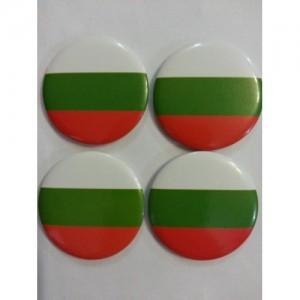 Кръгла значка с българското знаме