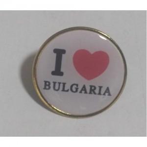 Кръгла значка Аз обичам България