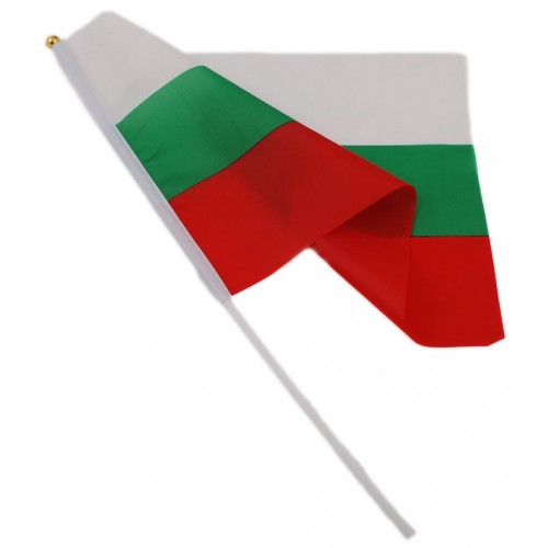 Българско знаменце с пръчка 30х45 см.