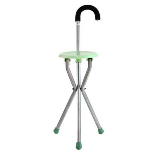 Сгъваемо столче - носеща конструкция с дръжка, тип бастун и седалка