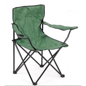 Туристически стол сгъваем с облегалка, подлакътник и поставка за чаша