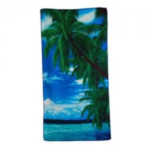Плажна кърпа - палми и море