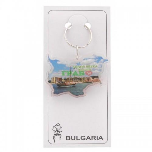 Ключодържател във формата на картата на България