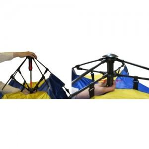 Автоматична палатка за петима души - еднослойна
