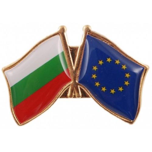 Значка с българското и европейското знаме