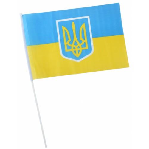 Знаме на Украйна с герб 34/45 см.