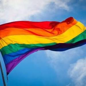 Знаме с цветовете на дъгата 90/150 см.