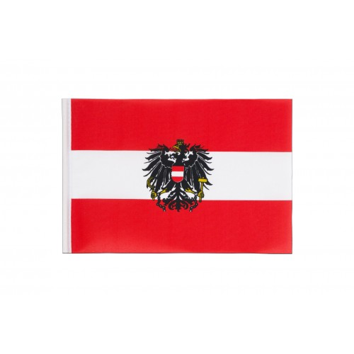 Знаме на Австрия с герб 20/30 см