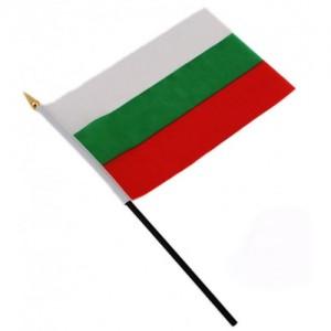 Българско знаме 15/21 см. с клечка
