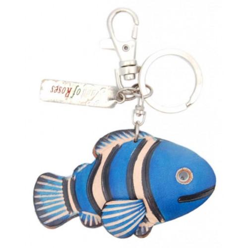 Kлючодържател с кожена фигурка - рибка