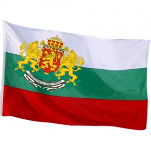 Българско знаме с голям герб 90/150 см.