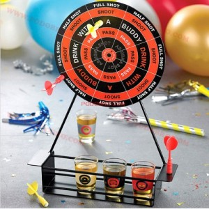 Алкохолен Дартс с шот чашки - игра за напиване