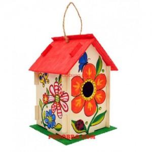 Дървена къщичка за птички - направи си сам