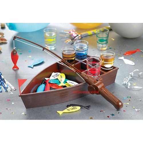 Риболов с шот чашки - алкохолна игра