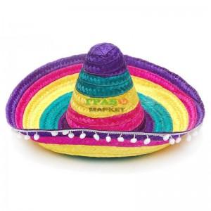 Цветна плетена шапка