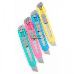 Макетен нож с цветен PVC корпус