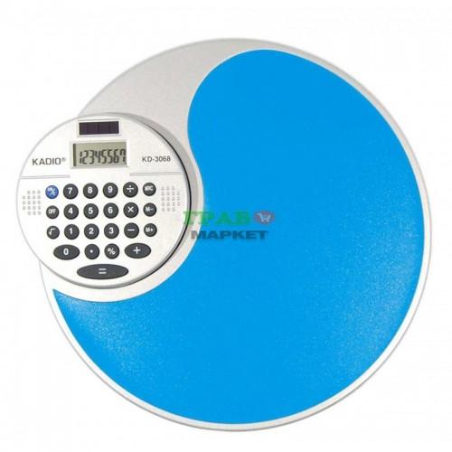 Подложка за мишка с електронен калкулатор на въртяща основа