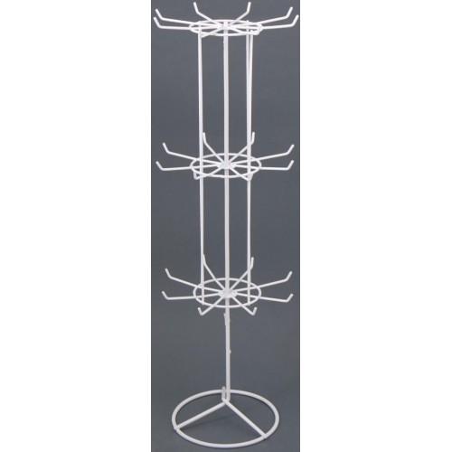 Метален стелаж тип въртележка - три свързани етажа с по 8 куки