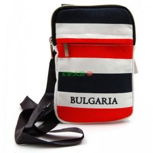 """Чанта текстил за рамо с надпис """"BULGARIA"""""""