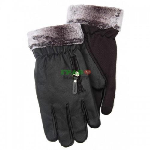 Топли и удобни зимни ръкавици от еко кожа