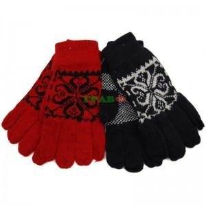 Плетени зимни ръкавици с декоративна оплетка