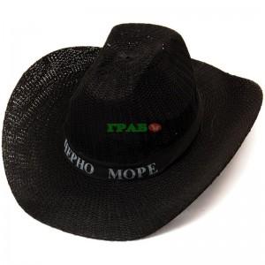 "Лятна каубойска шапка с щампа ""ЧЕРНО МОРЕ"""