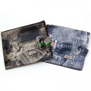 Мъжки портфейл с копче и цветна щампа