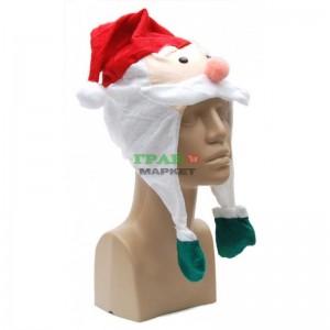 Коледна шапка във формата на Дядо Коледа