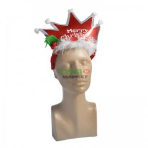 Коледна диадема - корона с надпис Весела Коледа