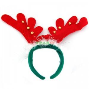 Коледна диадема еленови рога със звънчета