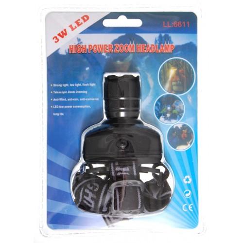 Челник - фенер за глава (диоден) с оптично увеличение