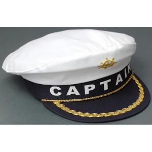 Лятна капитанска шапка с козирка и бродерия