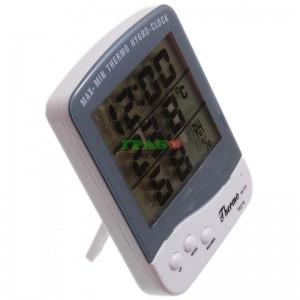 Електронен термометър с часовник и влагомер