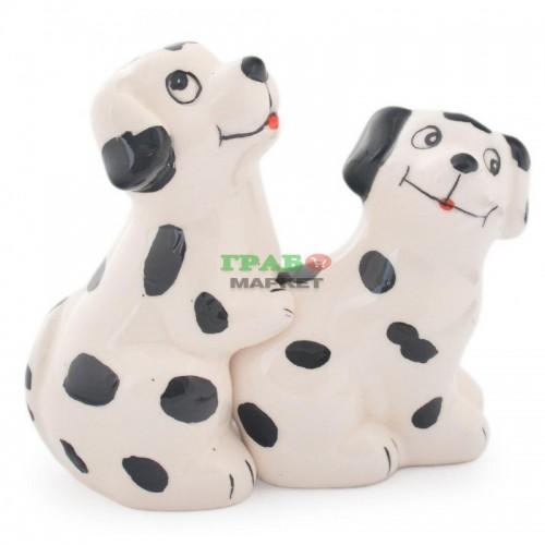 Комплект солница и пиперница във формата на кученца