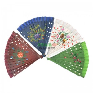 Сувенирно ветрило от текстил и дърво със цветен принт