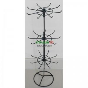 Стелаж на три етажа тип въртележка изработен от метал - черна