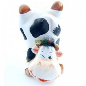 Декоративна керамична фигурка на крава