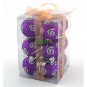 Коледен комплект топки за украсяване на елха в два цвята