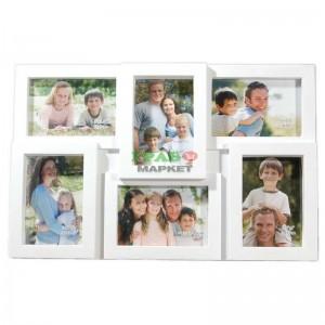 Мултирамка за 6 снимки (бяла)
