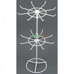 Стелаж изработен от метал тип въртележка с два самостоятелни етажа с по 8 куки